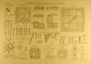 Blueprints of Early Eiffel Tower