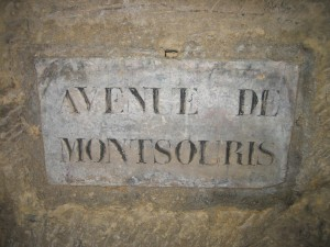 An example of a road sign found in the catacombs. Photo Credit: James Mitchell