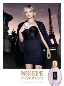 YSL perfume advertisment with Eiffel Tower