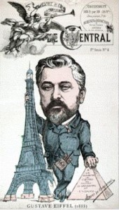 This is a cartoon mocking Gustave and his tower at the time ( Debate and Controversy Surrounding the Eiffel Tower)