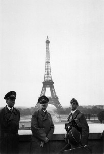 Hitler in front of the Eiffel Tower