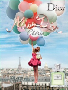 Advertisement for the perfume Miss Dior Cherie
